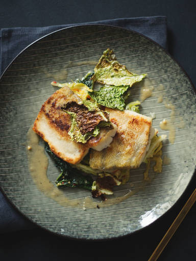 Perch filet with savoy cabbage