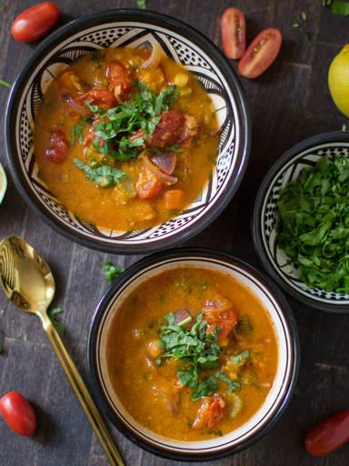 香辣鹰嘴豆浓汤
