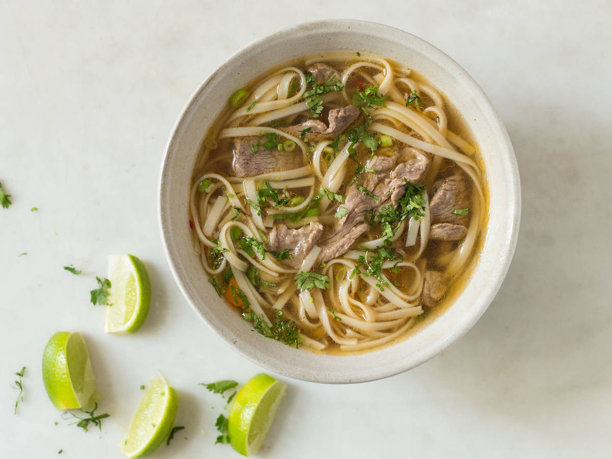 Vietnamese-inspired noodle soup