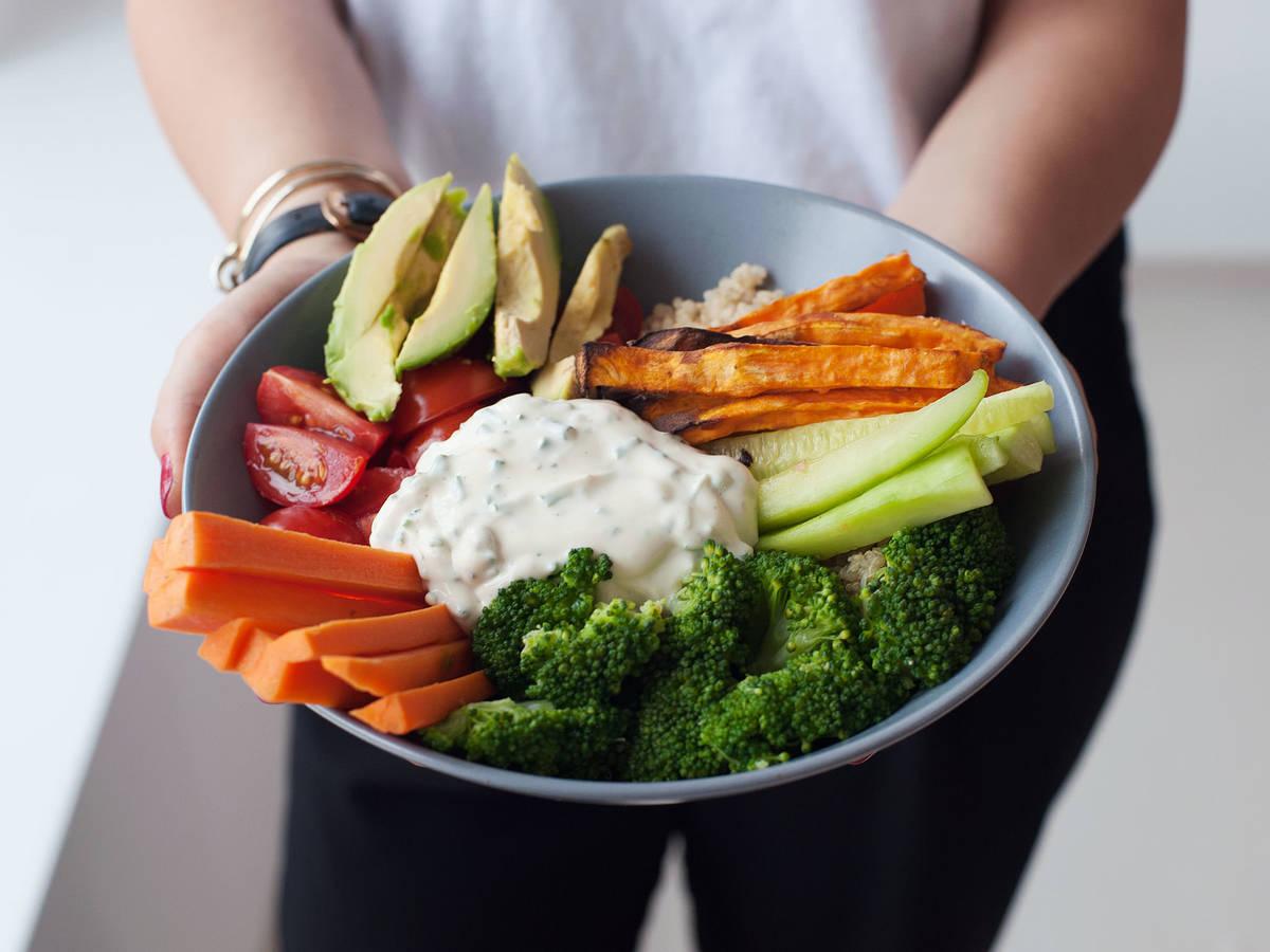 Colorful quinoa bowl