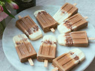 Boozy chocolate and coffee popsicles