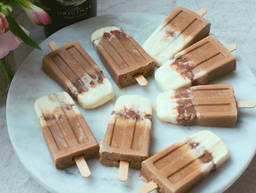 Boozy chocolate and coffee iced lollies