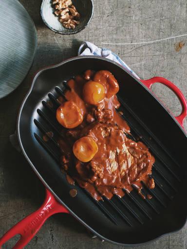 Schweinekotelett in Barbecuesoße