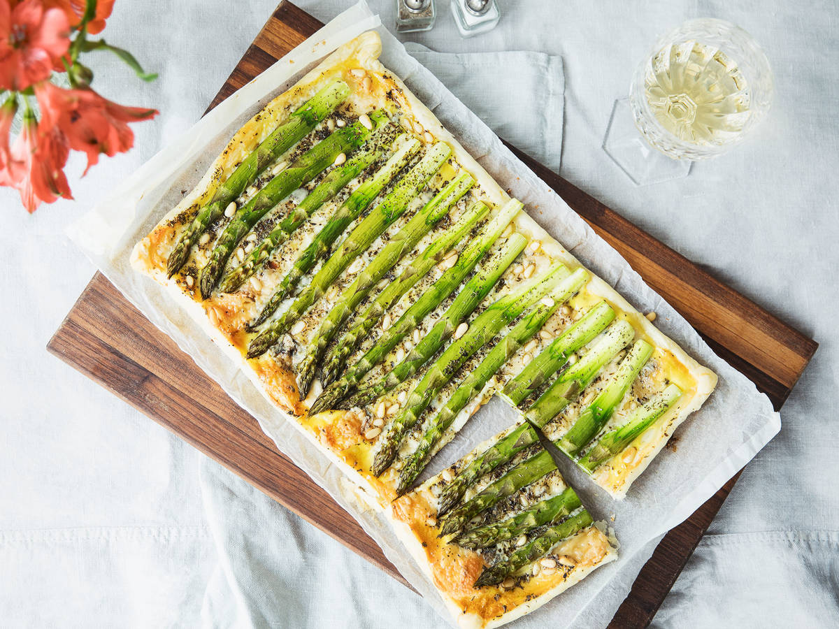 Green Asparagus Tart Kitchen Stories Recipe