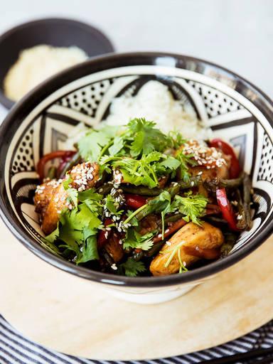 Stir-fried sweet soy chicken