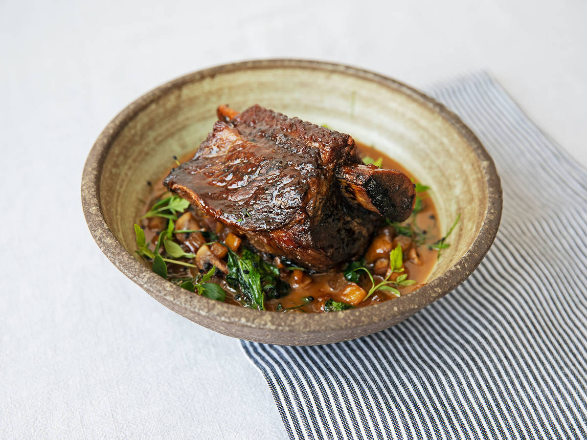 Teriyaki braised beef short ribs