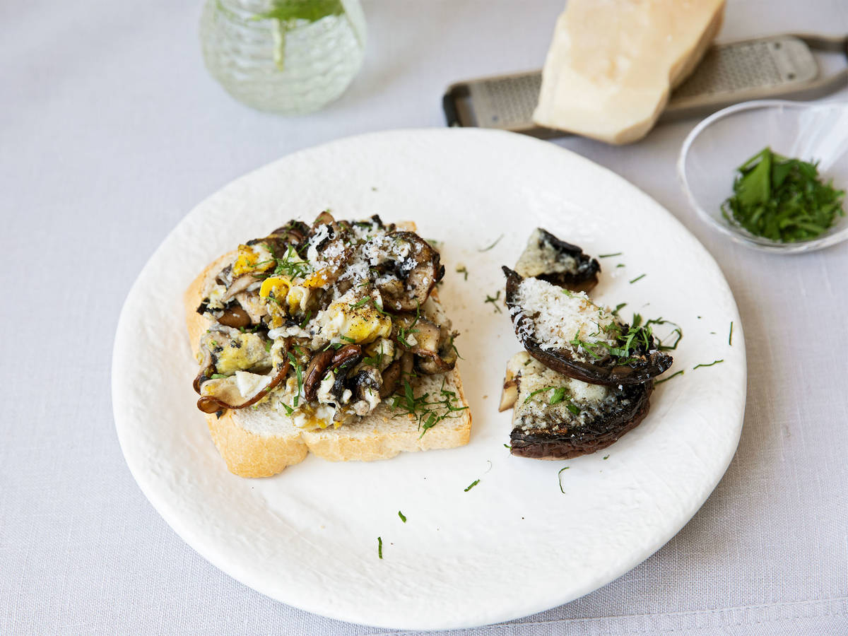 Portobello Mushrooms 2 ways