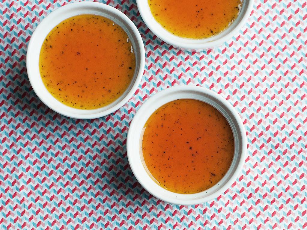 Crema Catalana mit gesalzener Karamellsoße
