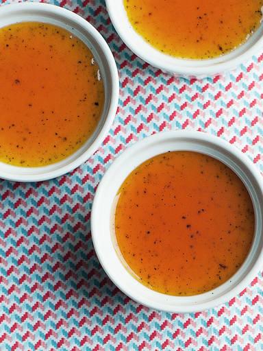 Crema Catalana with salted caramel sauce
