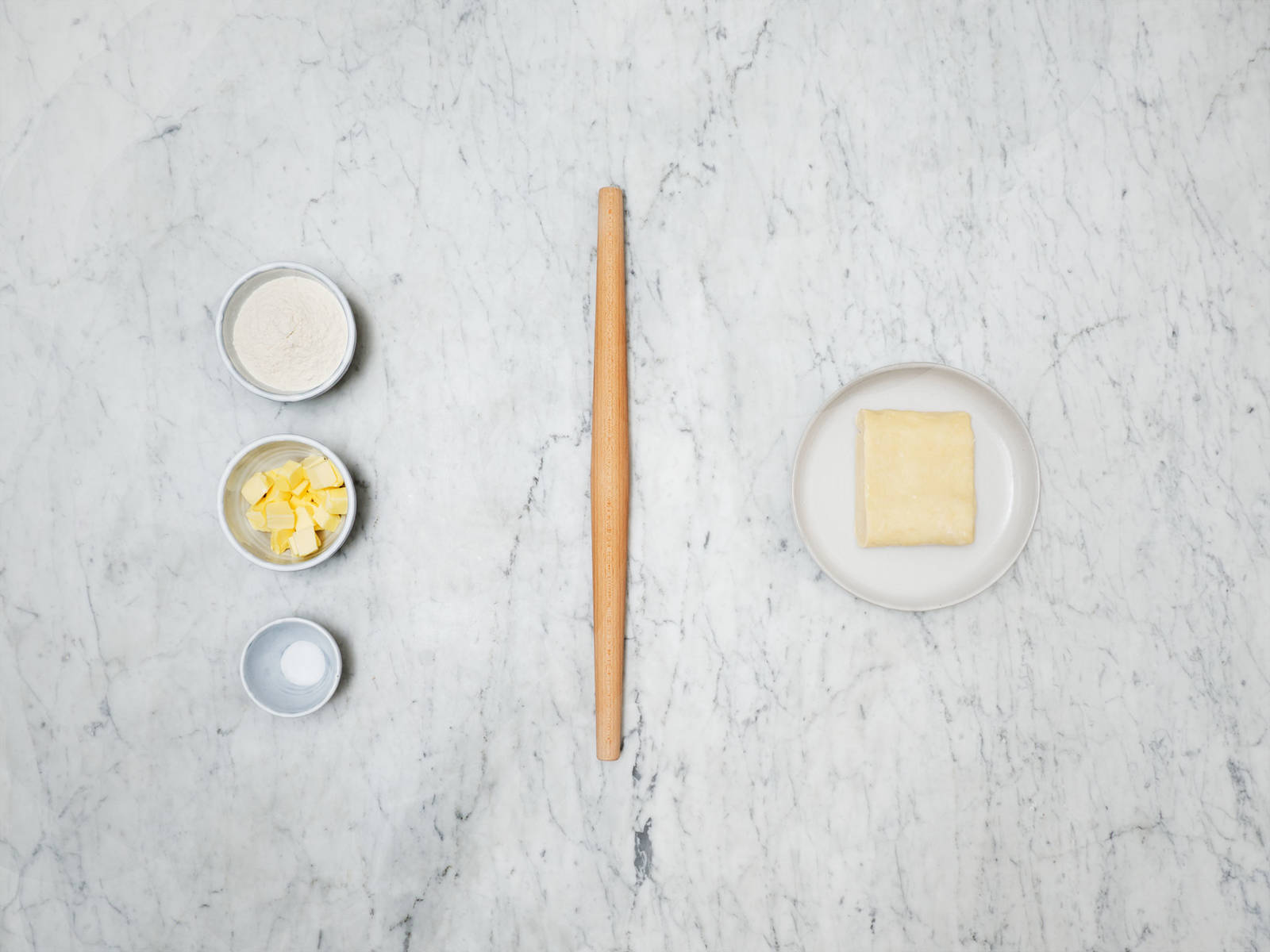 Shortcut puff pastry