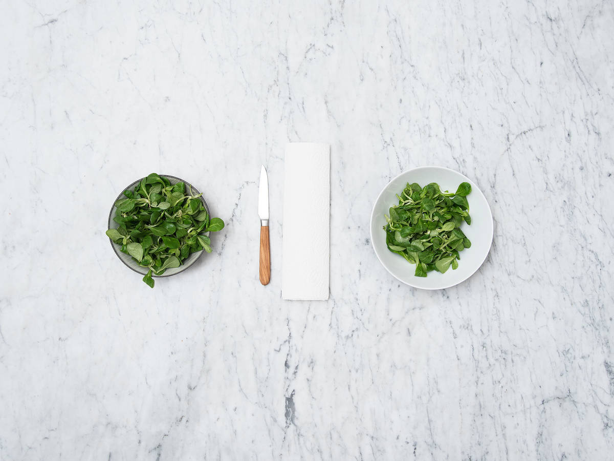 Feldsalat richtig vorbereiten