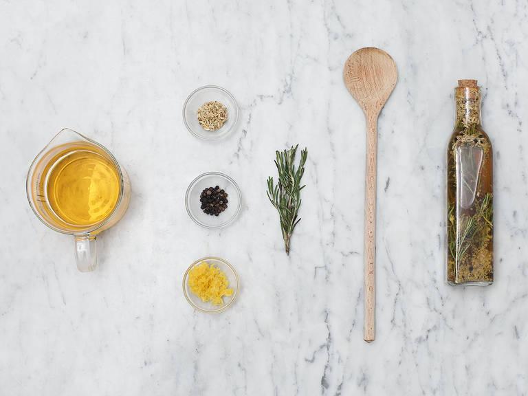Homemade infused vinegar