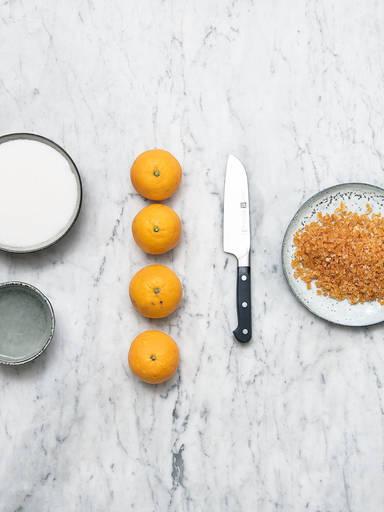 Homemade candied orange peel