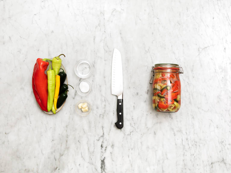 Easy pickled chili peppers