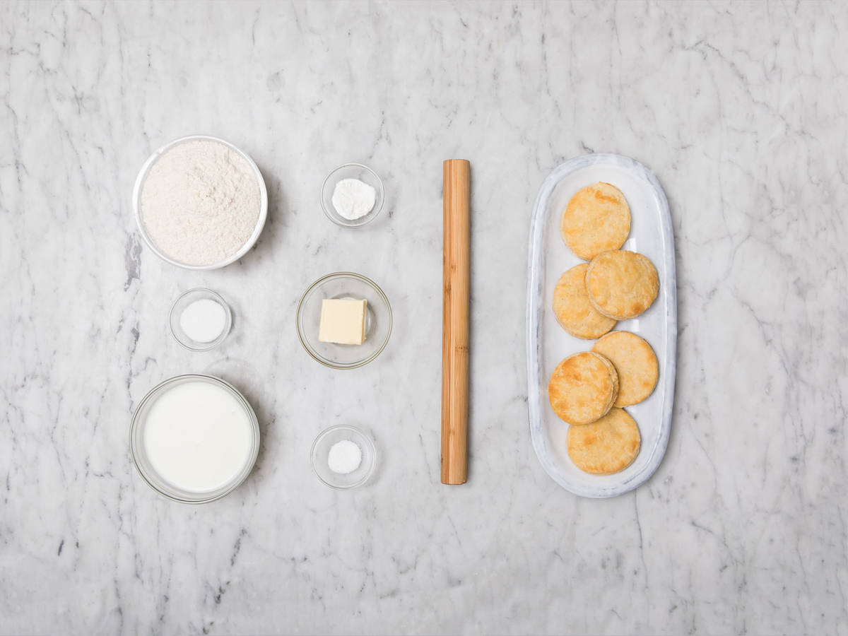 Homemade American buttermilk biscuits