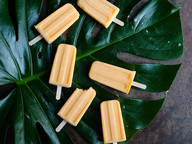 Mandarin yogurt ice pops