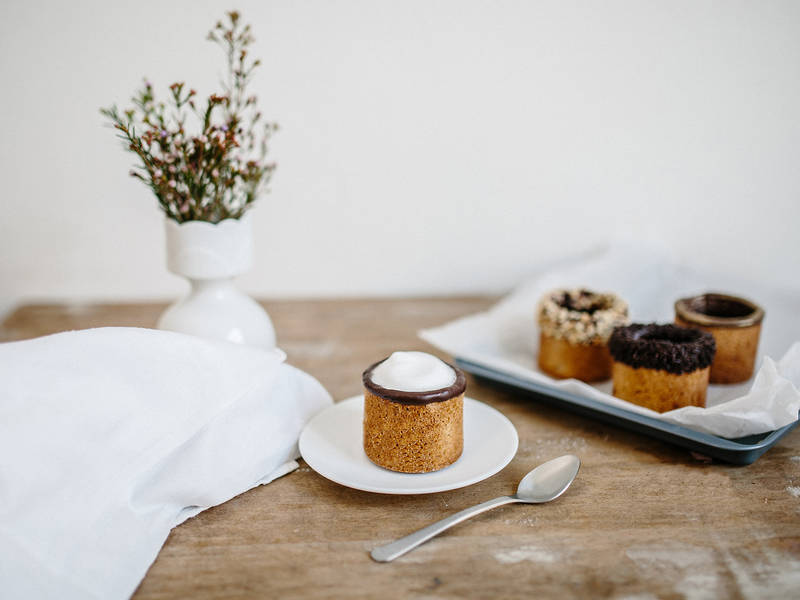 Espresso-filled cookie cups