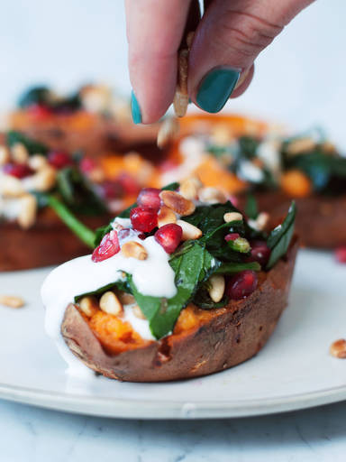 松籽菠菜烤红薯