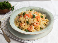 One-pot pasta with orzo and shrimp