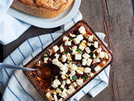Oven ratatouille with feta