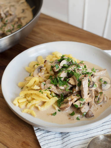 Zurich-style veal and mushroom ragout