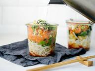 Noodle soup in a jar