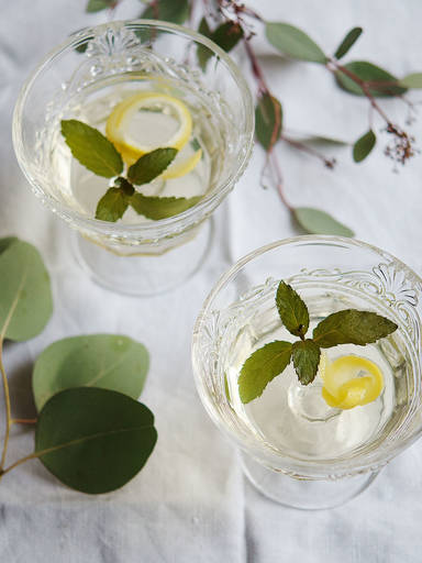 Elderflower-Champagne jello cocktail