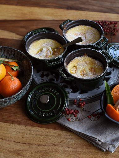Ricotta clementine cakes
