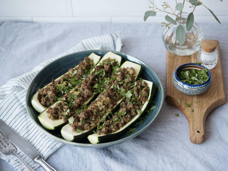Paleo stuffed zucchini