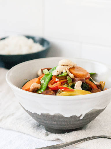 Veggie coconut curry