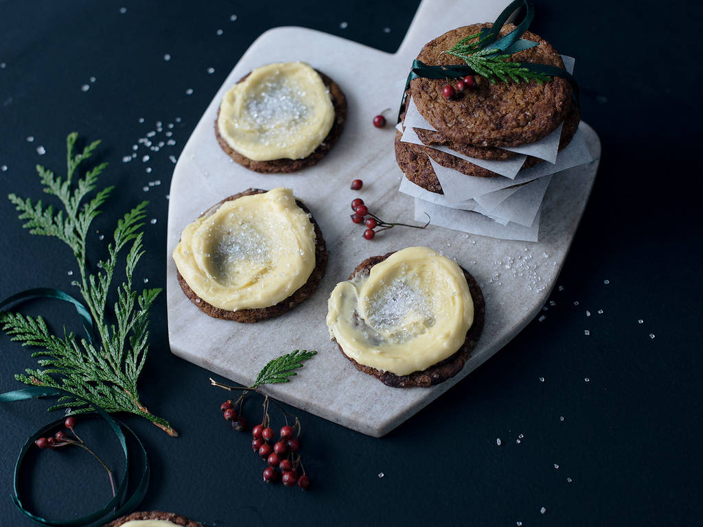 Lebkuchen-Plätzchen mit Eierlikörfrosting
