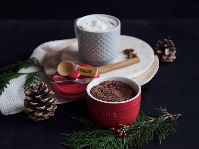 Heiße-Schokoladen-Mischung mit Gewürzen