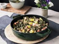 German-style braised kale with pork