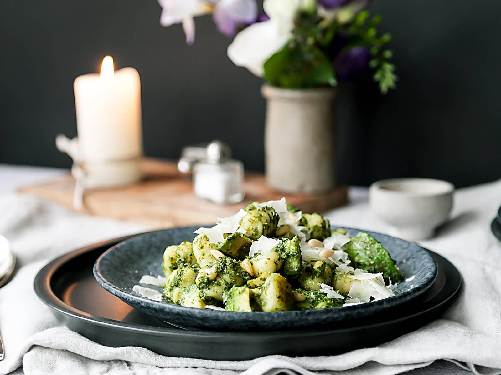 Gnocchi with kale pesto