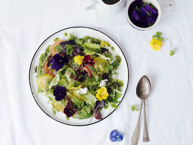 Tomato salad with basil vinaigrette