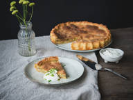 Savoy cabbage quiche