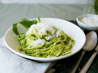 Tagliatelle with wild garlic pesto