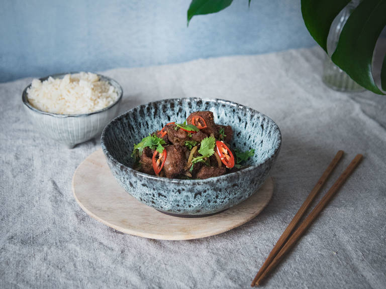 Chinese cumin and lamb stir-fry