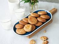 Weiche Tahini-Kekse mit Orange