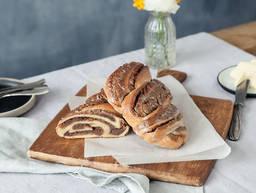 German sweet braided nut bread