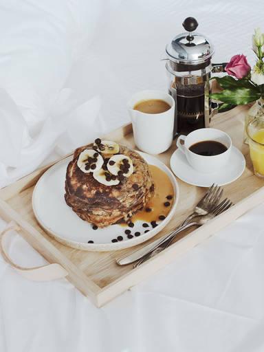 Bananenbrot-Pancakes