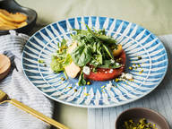 Grilled watermelon salad with peach