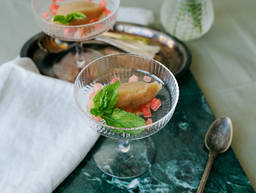 Watermelon and mint sorbet