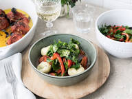 Gefüllte Gnocchi mit Mozzarella und Tomatenconfit