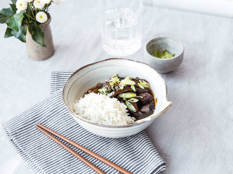 Chinese-style steamed eggplant