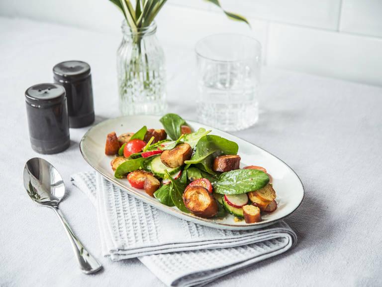 German radish and pretzel salad
