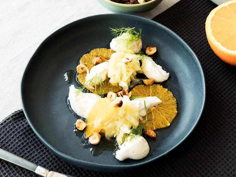 Fennel-citrus salad with burrata