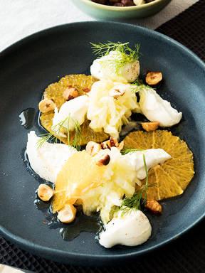 Fenchel-Orangen-Salat mit Burrata