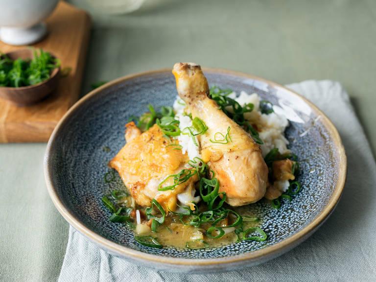 Crispy garlicky chicken