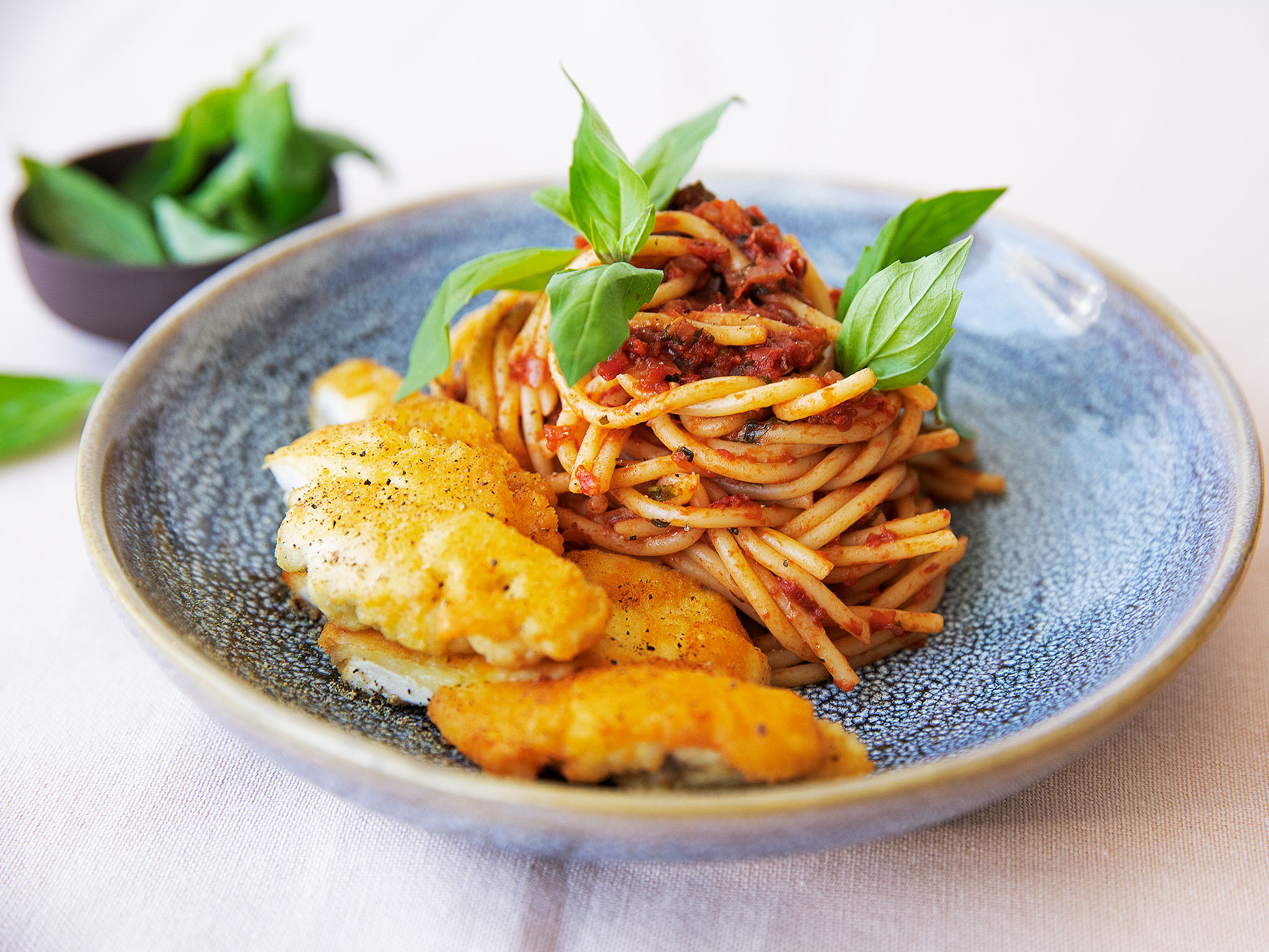 Chicken Milanese with spaghetti | Recipe with Video | Kitchen Stories